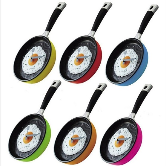 Διακοσμητικό ρολόι τοίχου κουζίνας - Τηγάνι με ομελέτα - σε διάφορα χρώματα OEM σπιτι   γραφειο  gt  είδη κουζίνας  gt  αξεσουάρ κουζίνας