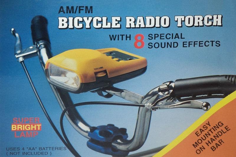 Ραδιόφωνο ποδηλάτου με κόρνα 8 ήχων και φακό OEM