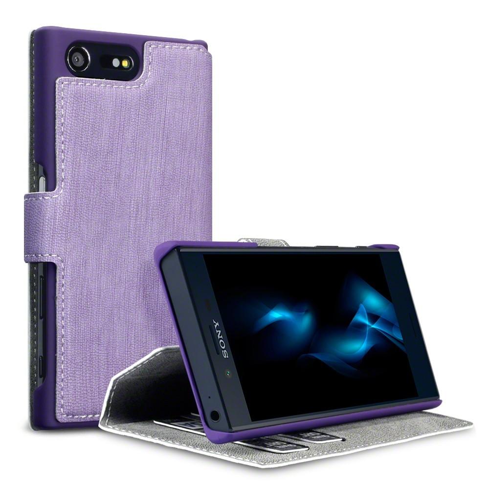 Θήκη Sony Xperia X Compact - Πορτοφόλι (117-005-465) - Purple BY TERRAPIN OEM τεχνολογια  gt  gadgets  gt  θήκες για smartphones  gt  θήκες sony xperia