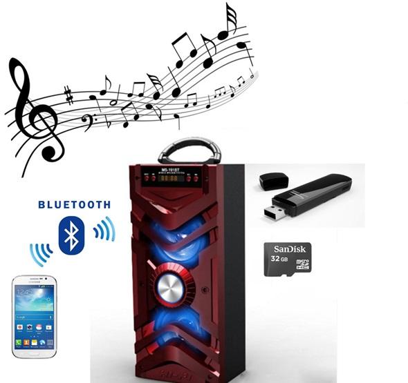 Φορητό ηχοσύστημα με είσοδο USB/microSD/AUX - Ραδιόφωνο - 2 ηχεία - bluetooth OE τεχνολογια  gt  ήχος  gt  φορητά cd players