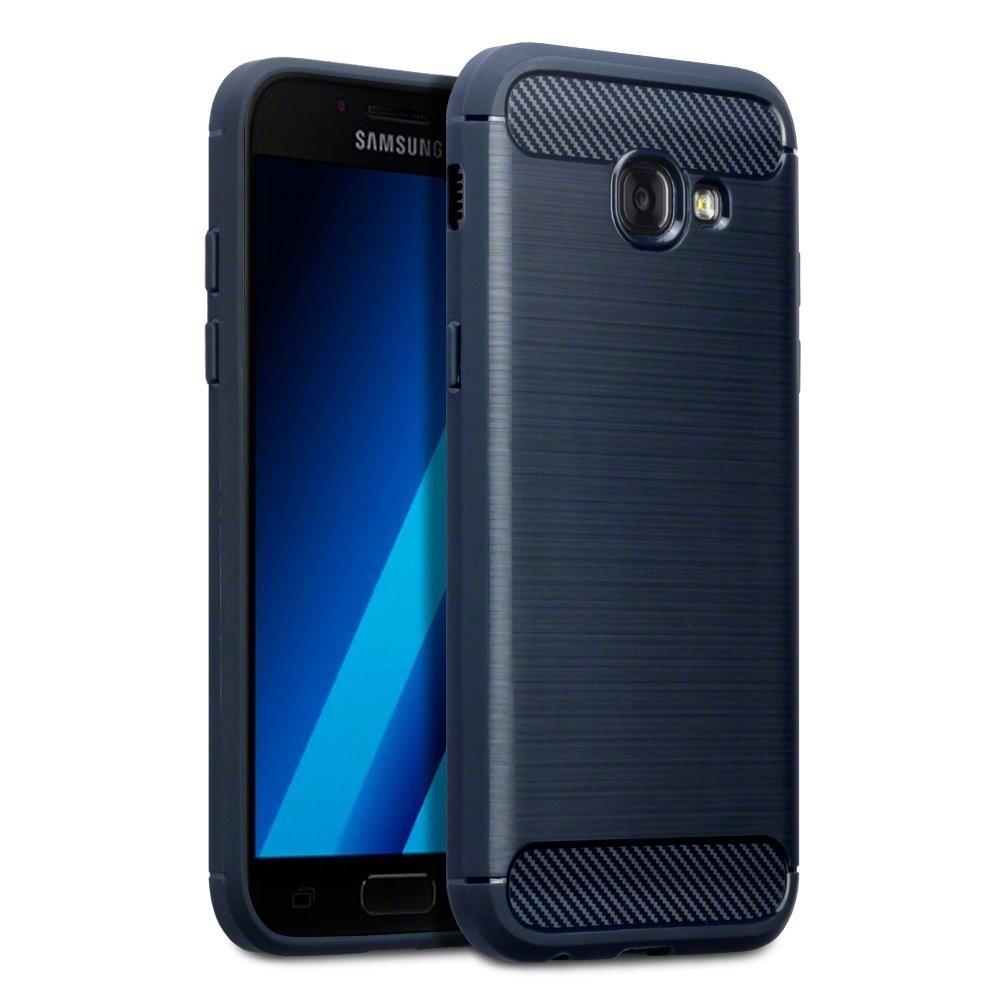 Θήκη Σιλικόνης Carbon Fibre Design Samsung Galaxy A5 2017 - Dark Blue (118-002-6 τεχνολογια  gt  gadgets  gt  θήκες για smartphones  gt  θήκες samsung galaxy