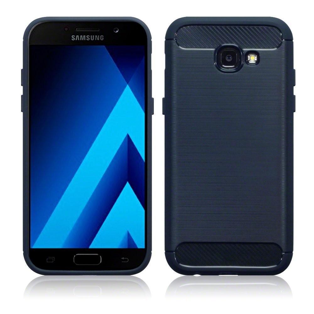 Θήκη Σιλικόνης Carbon Fibre Design Samsung Galaxy A3 2017 - Dark Blue (118-002-6 τεχνολογια  gt  gadgets  gt  θήκες για smartphones  gt  θήκες samsung galaxy