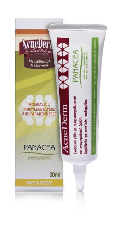 Γέλη για ακνεϊκές επιδερμίδες Acnederm 30ml PANACEA NATURAL PRODUCTS
