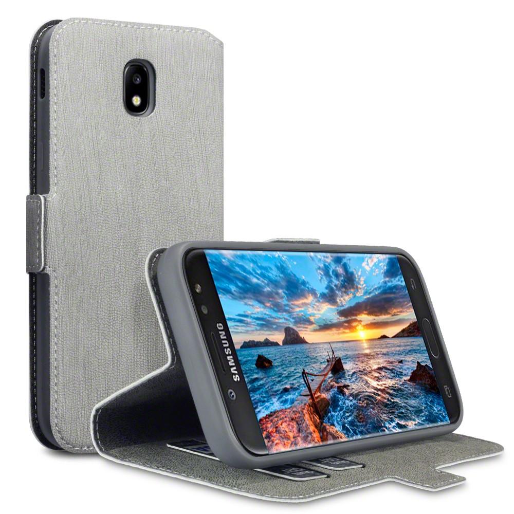 Θήκη Πορτοφόλι Samsung Galaxy J5 2017 (Version J530F) - Grey (117-002-994) BY TE τεχνολογια  gt  gadgets  gt  θήκες για smartphones  gt  θήκες samsung galaxy