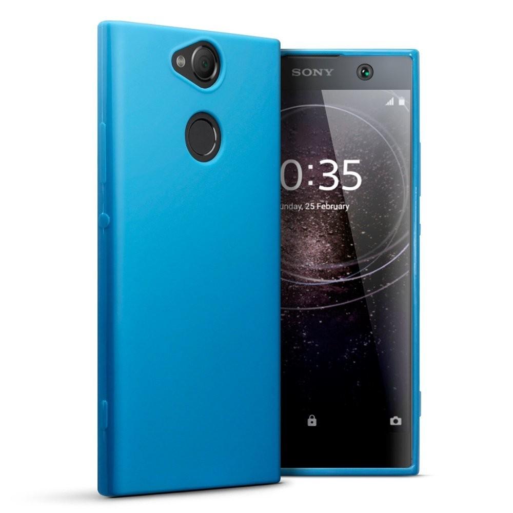 Θήκη Σιλικόνης Sony Xperia XA2 - Blue Matte (118-005-439) BY TERRAPIN τεχνολογια  gt  gadgets  gt  θήκες για smartphones  gt  θήκες sony xperia
